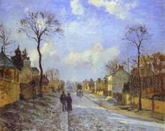 Camille Pissarro Famous Works | This is a painting by Camille Pissarro which is called The Road to ...