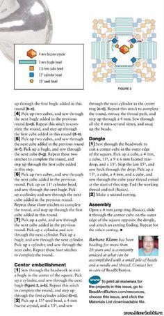 BUGLE CORE Earrings - FREE Tutorial by Barbara Klann. Page 2 of 2