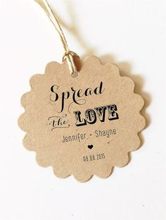 Select your own set quantity - Spread the love Love tag with bride and groom and date 2 inches wedding favors tags Great for diy wedding shower