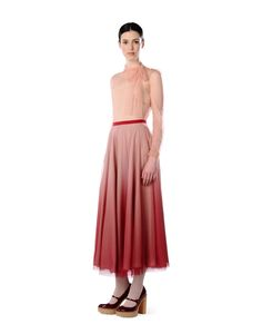 REDValentino ombre tulle and silk skirt