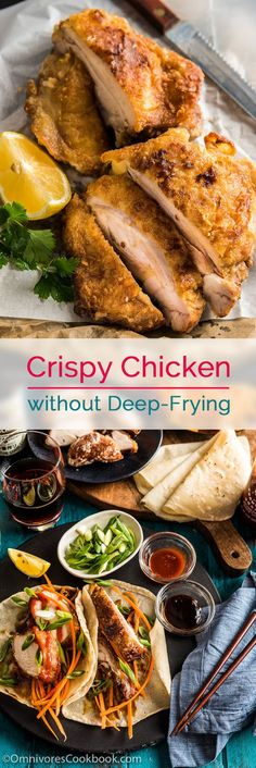 Crispy Chicken without Deep-Frying (香酥鸡) - This recipe offers a new approach to creating crispy and flavorful fried chicken on the stovetop using the minimum amount of oil.