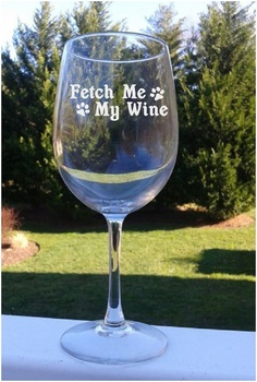 Etched Wine Glass Wine Glass Etched  12oz   by StoneEffectsMD, $15.00