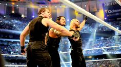 The Shield stand tall after their match at Wrestlemania 30