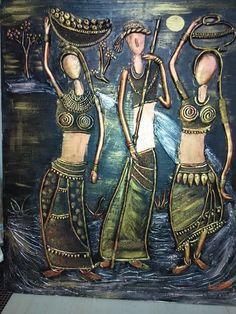 Clay Wall Art, Mural Wall Art, Mural Painting, Murals, Art Walls, 3d Canvas Art, African Pottery, Ceramic Sculpture Figurative, Clay Art Projects