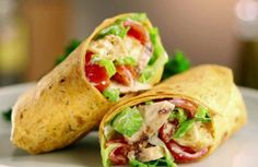 Get Grilled Chicken Caesar Wrap Recipe from Food Network. My all-time favorite Caesar dressing recipe! Oh, and the wraps are good too. Chicken Caesar Wrap, Chicken Wraps, Chicken Ceasar, Taco Chicken, Chicken Salad, Gourmet Chicken, Ginger Chicken, Liver Recipes, Best Salad Recipes
