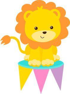 Baby safari para imprimir em quadrinhos de quarto infantil   FESTA ... Circus Baby, Circus Theme, Circus Circus, Carnival Birthday Parties, Circus Birthday, Decoration Cirque, Micro Creche, Clown Crafts, Carnival Baby Showers