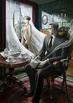 Miyoshi and Lieutenant Colonial Yuuki || Joker Game