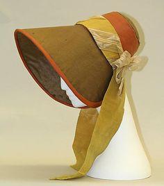 poke bonnet- 1830-40   American
