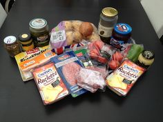 The ingredients for Raclette