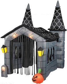 10 tall x 9 wide airblown halloween in stands searches and lighted - Blow Up Halloween Decorations