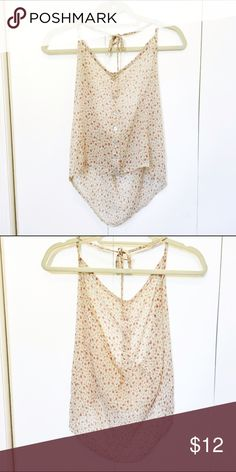 Brandy Melville Floral Halter Floral halter, chiffon, buttons down the front Brandy Melville Tops