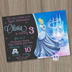 Cinderella Invitation Cinderella Birthday Invitation by CutePixels Disney Princess Invitations, Disney Princess Birthday, Cinderella Birthday, Princess Party, Birthday Thank You, 3rd Birthday, Birthday Ideas, Cinderella Cupcakes, Birthday Decorations