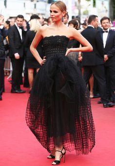 Natasha Poly in Oscar de la Renta (Cannes 2014)