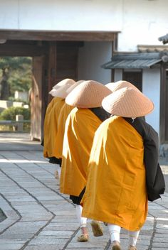 Takuhatsu-sou .  A Buddhist rite in which Zen monks visit businesses & homes chanting sutras in exchange for food or money.