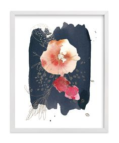 """""""Fleur"""" - Foil-pressed Art Print by Kelly Ventura in beautiful frame options and a variety of sizes."""