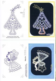 "Журнал ""Lace Express"" 2012 №3 Bobbin Lace Patterns, Tatting Patterns, Needle Tatting, Needle Lace, Lace Christmas Tree, Romanian Lace, Bobbin Lacemaking, Lace Heart, Point Lace"