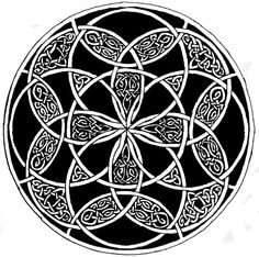 Celtic Circle by IBtheFiery on DeviantArt - Celtic Circle by IBtheFiery.devian…, I can see this as a yule tree skirt, or worked with thread on - Celtic Patterns, Celtic Designs, Wood Patterns, Tribal Designs, Celtic Circle, Celtic Spiral, Celtic Knots, Celtic Symbols, Celtic Art