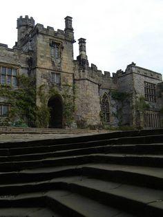 Haddon Hall in Derbyshire, England.