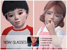 These glasses are inspired by Min Yoongi from BTS. Found in TSR Category 'Sims 4 Female Glasses' Curly Hair Ponytail, Ponytail Hairstyles, Toddler Hair Sims 4, Sims 4 Family, Hair Pack, Sims 4 Cc Furniture, Sims Community, Electronic Art, Sims Cc