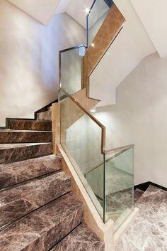 玻璃扶手 Granite Stairs, Marble Stairs, Glass Stairs, Floating Stairs, Stairs And Doors, House Stairs, Garden Stairs, Stainless Steel Staircase, Glass Handrail