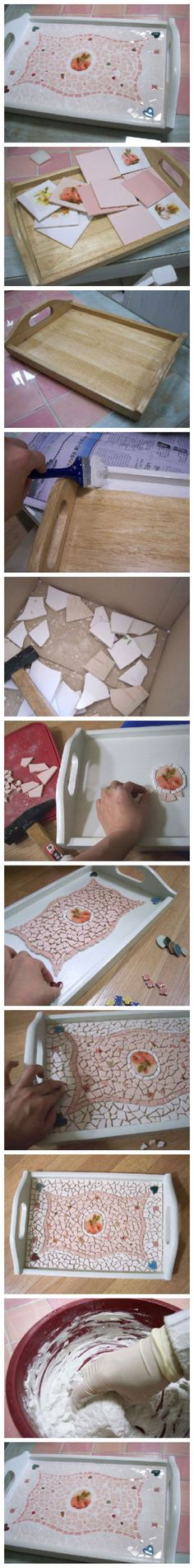 DIY Projects Made With Broken Tile - Mosaic Tray - Best Creative Crafts, Easy DYI Projects You Can Make With Tiles - Mosaic Patterns and Crafty DIY Home Decor Ideas That Make Awesome DIY Gifts and Christmas Presents for Friends and Family Tile Crafts, Mosaic Crafts, Mosaic Projects, Diy Projects To Try, Crafts To Do, Craft Projects, Arts And Crafts, Craft Ideas, Easy Crafts