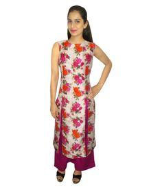 Crown Nine Multicoloured Khadi Straight Stitched Suit