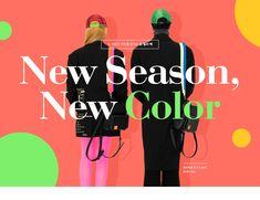W concept Web Design, Graphic Design Trends, Event Banner, Web Banner, Web Layout, Layout Design, Fashion Banner, Color Scale, Promotional Design