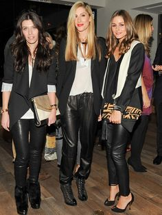 Olivia Palermo with Joanna Hillman and a friend.