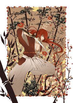 Red hair Samurai by Eternal-S.deviantart.com on @deviantART