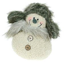 """Мягкая игрушка """"Снеговик в меховой шапке"""", 16*14*20 см — 103005"""