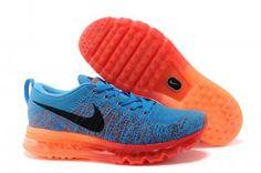 5b2e931c0d3b Nike Flyknit Air Max Australia Mens Running Shoes Blue Black Red Orange  Sydney Sale Latest Shoes