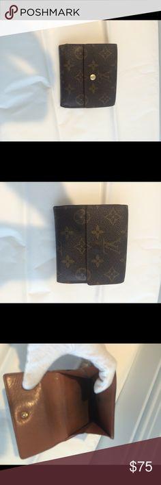 Authentic Louis Vuitton monogram wallet Vintage condition .100% authentic .we are a boutique on poshmark since 2013 Louis Vuitton Bags Wallets