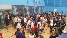 The Olympic and Paralympic stars enter the building at Oriam.