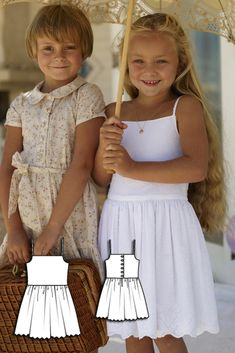Girls Tank Dress 06/2010 #burdastyle #sewing