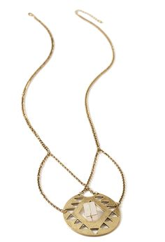 Geo Cutout Pendant Necklace   FOREVER21 - 1000097472