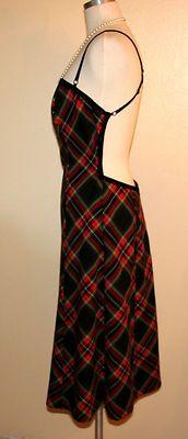 A.B.S. by Allen Schwartz Open Back Tartan Plaid Dress