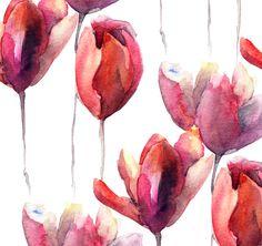 Tulips Paint Pattern Roll