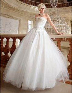 Sweetheart Floor-length Organza Wedding Gown