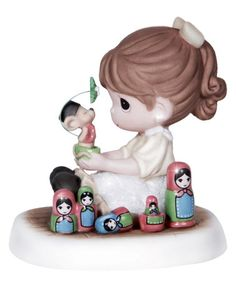 Another great find on #zulily! Playing Girl Figurine #zulilyfinds
