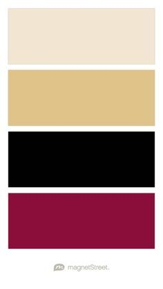 Champagne, Gold, Black, and Burgundy Wedding Color Palette - custom color palette created at MagnetStreet.com