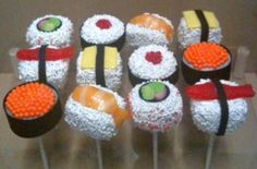 These sushi cake pops by Sugar Parlour