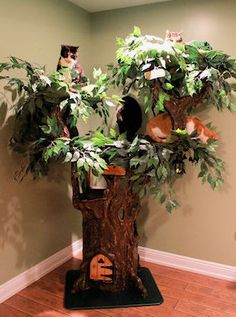 Unique, Custom Cat Furniture Fantasy Cat Furniture that resembles real Trees. You can Design them to match your own Decor. There is one to fit every lifestyle. Please visit us at www.aHiddenHollow.com