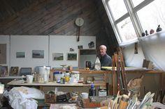 Rob DuToit, artist's studio in Provincetown