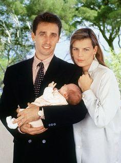 Princess Stephanie and Daniel Ducruet, with their son Louis