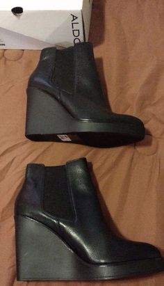 Check out NEW Aldo high heel wedge ankle booties shoes size 10 Genuine leather upper #ALDO http://www.ebay.com/itm/-/302147586449?roken=cUgayN&soutkn=5ulD7A via @eBay