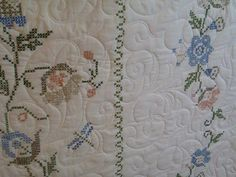 It's okay to quilt over a cross stithched quilt top! Quilt Top, Quilts, Rugs, Photos, Home Decor, Farmhouse Rugs, Pictures, Decoration Home, Room Decor