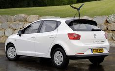 http://chicerman.com  carsthatnevermadeit:  SEAT Ibiza Ecomotive with optional Aero Tonto 2009. The rear mounted fan provides enough electricity to power the cars headlights though it needs to be travelling at at least 24 kph to power the high-beam  #cars