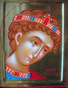 Saint George the Trophy-Bearer Byzantine Art, Byzantine Icons, Religious Icons, Religious Art, Good Shepard, Paint Icon, Religious Paintings, Orthodox Icons, Saint George