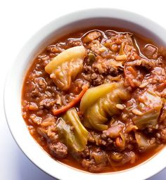 Unstuffed cabbage roll soup has all the great flavors of traditional cabbage rolls, without all the fuss.  It's hearty, beefy, and full of veggies. Cabbage rolls.  They're pretty tasty.  But, if you've ever tried to make them, then you know they can be quite tedious.  They're cabbage leaves stuffed with a flavorful beef and rice...Read More »