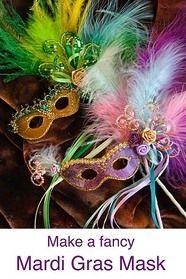 tutorial for Mardi Gras mask by Martha Boers